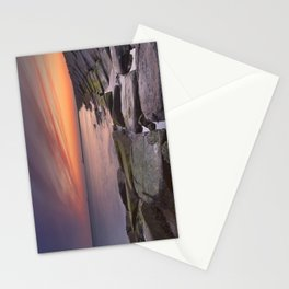 II - Sunset over harbour entrance at sea in IJmuiden, The Netherlands Stationery Cards