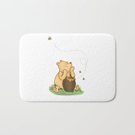 Classic Pooh with Honey - No background Bath Mat