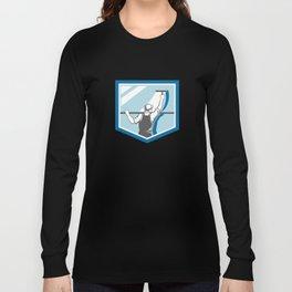 Window Cleaner Washer Worker Shield Retro Long Sleeve T-shirt
