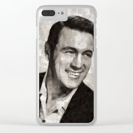 Rock Hudson by MB Clear iPhone Case