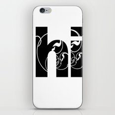 Swirly hello iPhone & iPod Skin