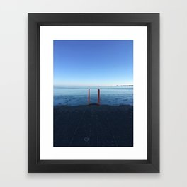 Lake Michigan in Winter, Chicago Framed Art Print
