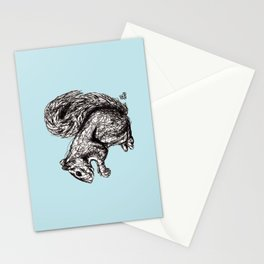 Blue Woodland Creatures - Squirrel Stationery Cards
