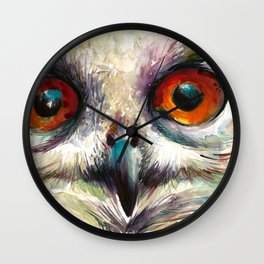 OWL EYE Watercolor Wall Clock