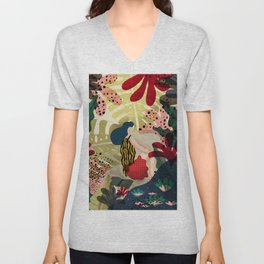 Relaxed in Jungle - The Book Lover Unisex V-Neck