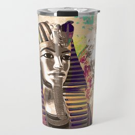 King Tut  Mask Abstract composition Travel Mug