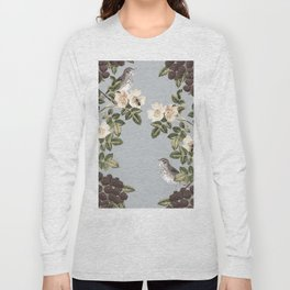 Birds and the Bees Gray Long Sleeve T-shirt
