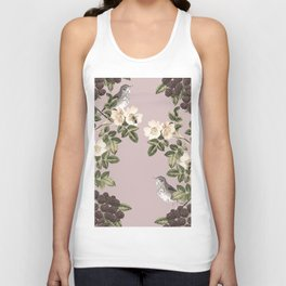 Birds and the Bees Pink Berry Unisex Tank Top