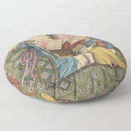 Classical Musical Family Illustration Floor Pillow