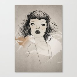 a hot french lady Canvas Print