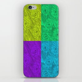 Color Blocked Roses iPhone Skin