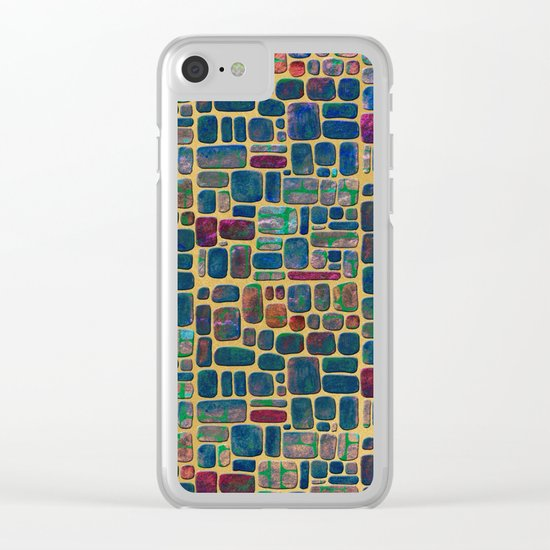 Abstract Tile Mosaic Clear iPhone Case