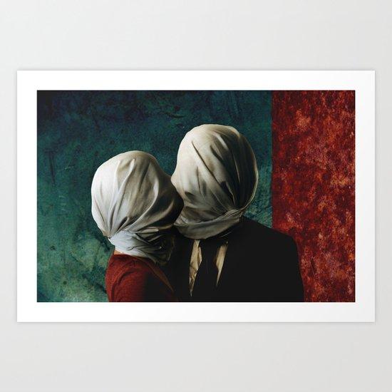Les AMANTS Art Print