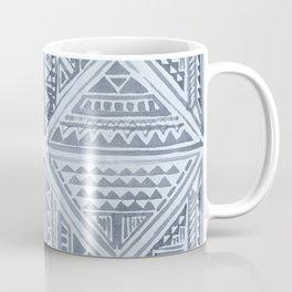 Simply Tribal Tile in Indigo Blue on Sky Blue Coffee Mug