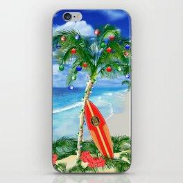 Beach Christmas iPhone Skin