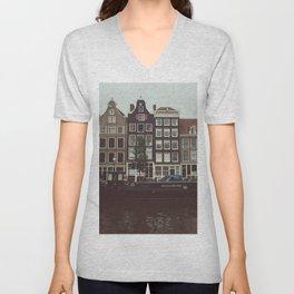 Jordaan District, Amsterdam Unisex V-Neck