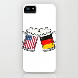 American German Beer Stein Prost Oktoberfest  Design  iPhone Case