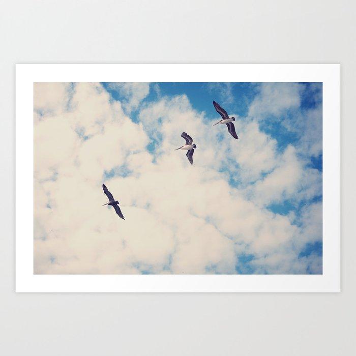 Flying Over Seas Art Print