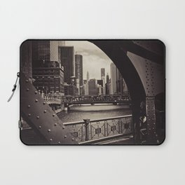 Up The Chicago River Laptop Sleeve