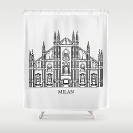 """"""" Travel Collection """" - Milan Shower Curtain"""