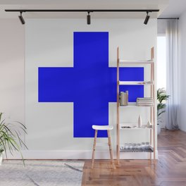 + No. 2 -- Blue Wall Mural