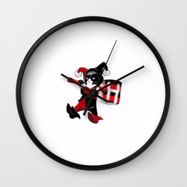 Grumpy Harley Cat Wall Clock