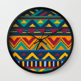 African Style No9 Wall Clock