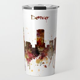 Denver Skyline Silhouette Travel Mug