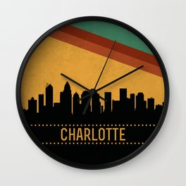 Charlotte Skyline Wall Clock