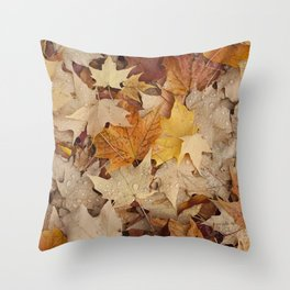 All the Leaves Overview Throw Pillow
