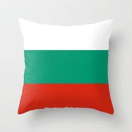 Flag: Bulgaria Throw Pillow