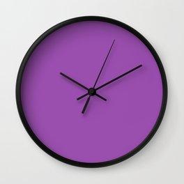 Purpureus - solid color Wall Clock