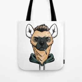 Smoking Hyena Tote Bag