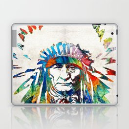 Native American Art - Chief - By Sharon Cummings Laptop & iPad Skin