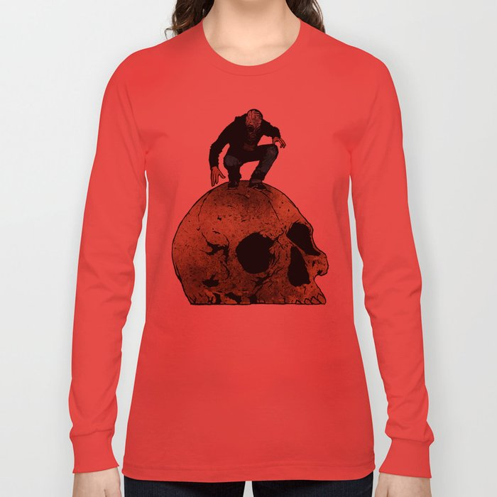 Leroy And The Giant's Giant Skull Long Sleeve T-shirt