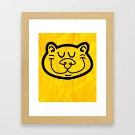 Simple Cat Framed Art Print
