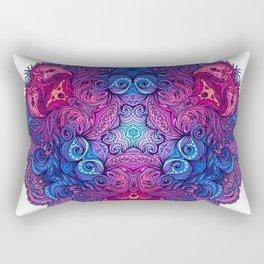 Purple & Blue Indian Mandala Rectangular Pillow