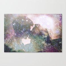 Galactic Kiss - Galaxy Star Space Love Canvas Print