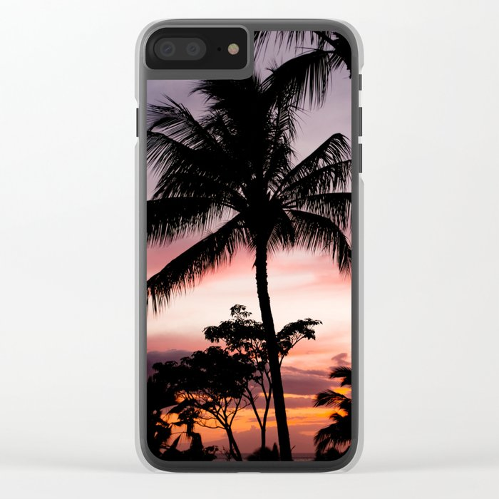 tropical memories Clear iPhone Case