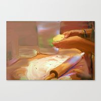 baking Canvas Prints featuring Baking by Karen Herman Jacquez