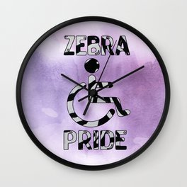 Zebra Pride Wall Clock