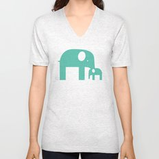 Blue Elephants Unisex V-Neck