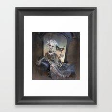 Catrina in Waiting Skeleton Large Format Framed Art Print