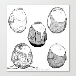 One Direction Eggs Canvas Print