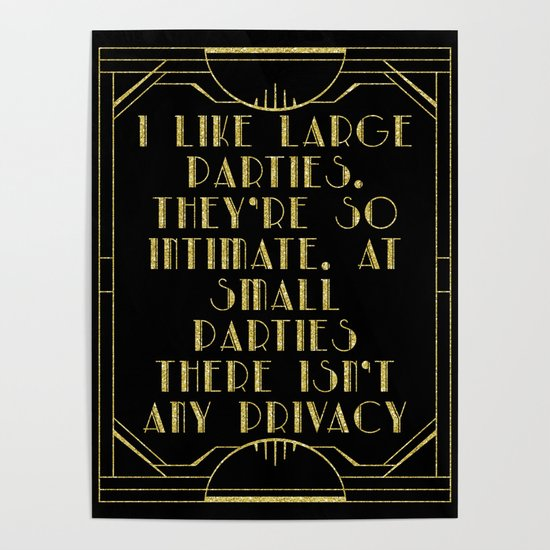 I like large parties - The Great Gatsby by peggieprints