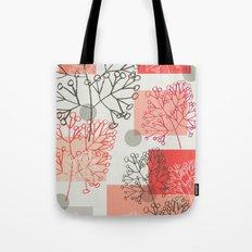 Branches grey graphic retro Tote Bag