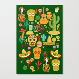 Fiesta Time! Mexican Icons Canvas Print