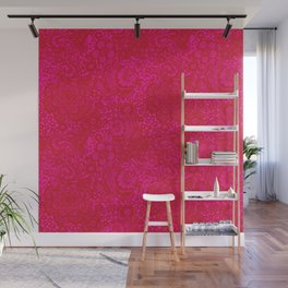 Christmas Brocade Lace with Doves Wall Mural