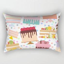 Birthday, valentine's day, wedding, engagement. Set sweet cake, chocolate icing sprinkles Rectangular Pillow