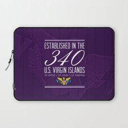 Established in the 340/USVI - Purple Laptop Sleeve